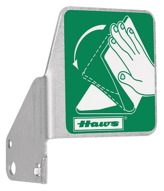 Haws SP216 Eyewash Push Flag