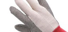 Worksafe Cotton Flannel Gloves with Laminated Dots on Palm